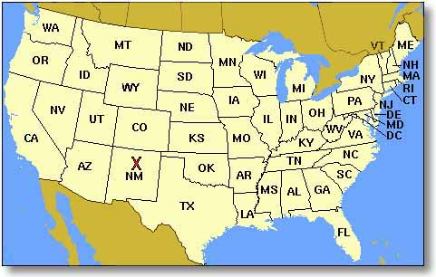 Map - Picture of usa map